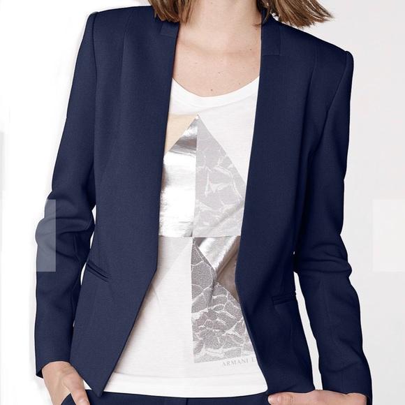 Armani Exchange Jackets & Blazers - Armani Exchange Clean Cropped Navy Blazer